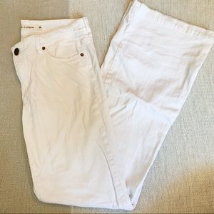 White Bootcut Jeans - life in progress